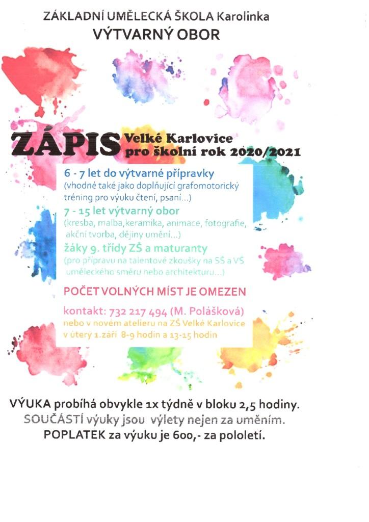 Zápis Velké Karlovice